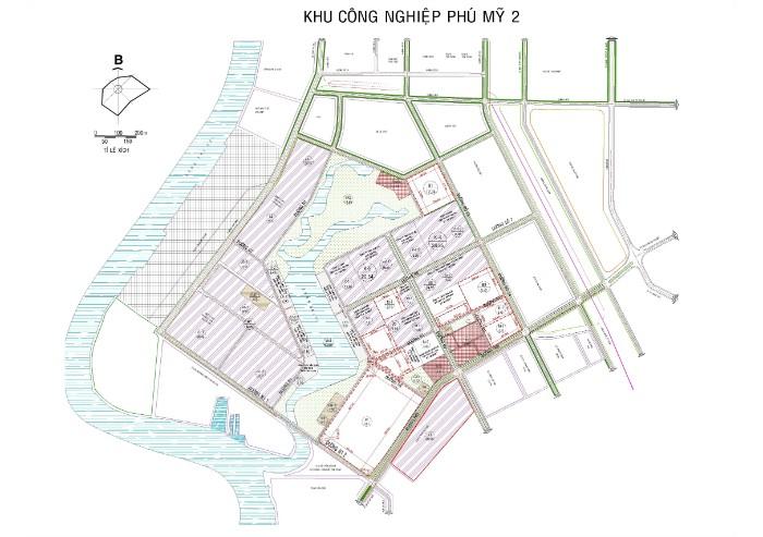 Bản vẽ quy hoạch KCN Phú Mỹ 2 Thị xã Phú Mỹ