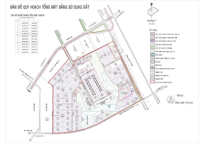 Bản vẽ quy hoạch của KCN Phú Mỹ 2 Mở rộng