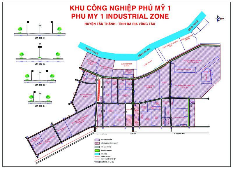 Bản đồ của khu công nghiệp Phú Mỹ 1