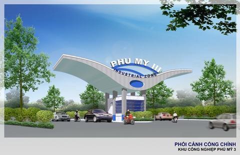 Phối cảnh cổng chính Khu công nghiệp Phú Mỹ 3