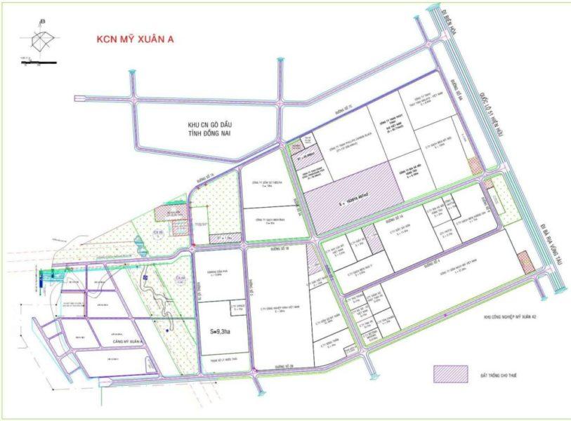 Bản vẽ quy hoạch của KCN Mỹ Xuân A