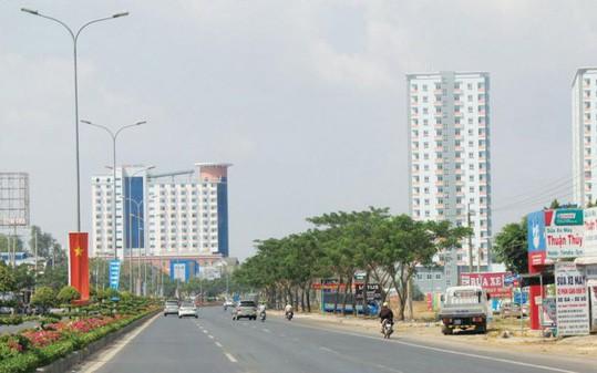 Một góc của thị xã Phú Mỹ