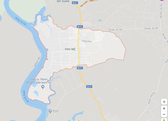 Vị trí địa lý của phường Phú Mỹ, thị xã Phú Mỹ (BRVT)