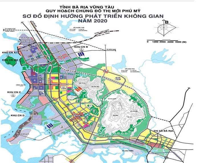 Bản đồ quy hoạch chung đô thị mới Phú Mỹ