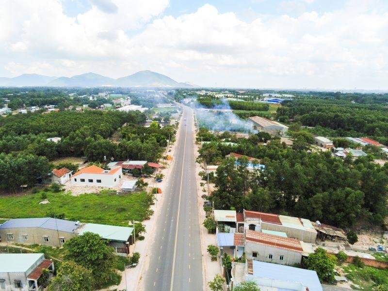 Một góc đường xã Tóc Tiên thị xã Phú Mỹ (BRVT)