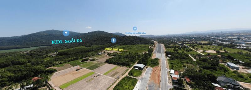 Toàn cảnh Quốc lộ 56 - tuyến tránh TP Bà Rịa đi qua thị xã Phú Mỹ (BRVT)