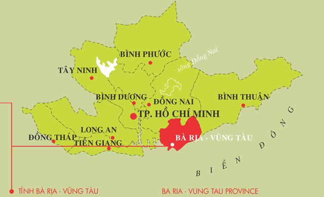 Vị trí thuận lợi cho lưu thông đường biển từ thị xã Phú Mỹ đến các vùng lân cận