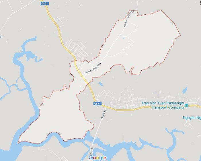 Vị trí địa lý của xã Tân Hòa