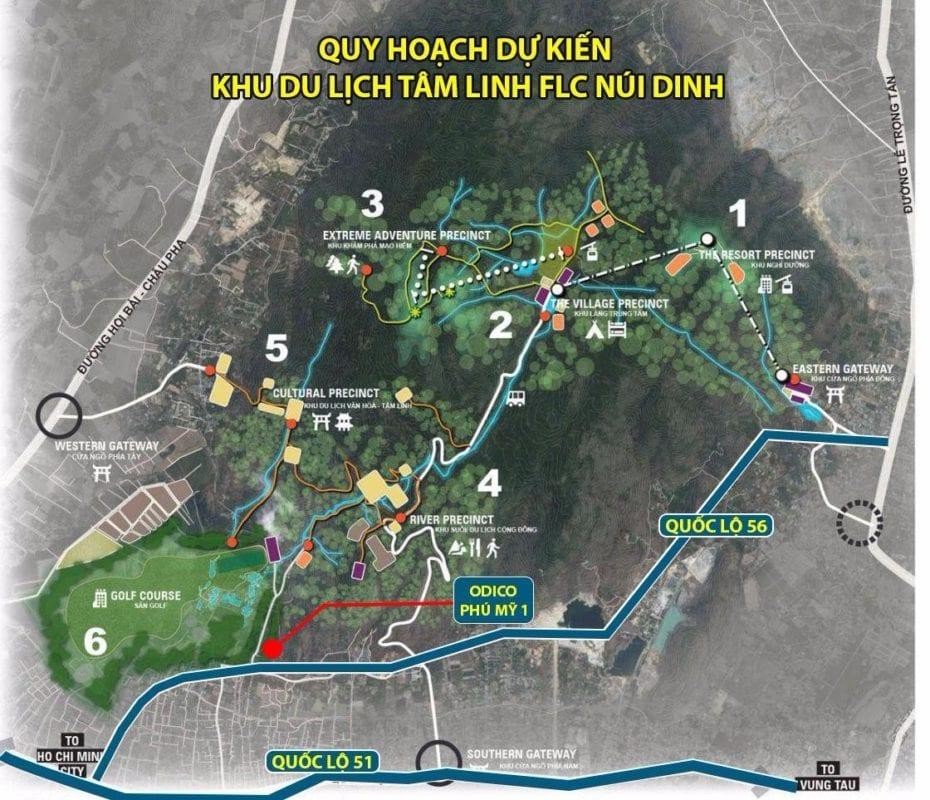 ODICO Phú Mỹ 1 nằm trong khu quy hoạch du lịch tâm linh dự kiến của FLC Núi Dinh (BRVT)