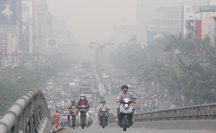 Bụi mịn là mối lo ngại hàng đầu của những người dân sống trong thành phố