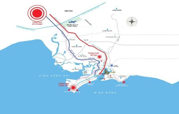 Bản đồ cao tốc Biên Hòa - Vũng Tàu