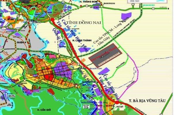Sơ đồ dự án đường cao tốc Biên Hòa - Vũng Tàu