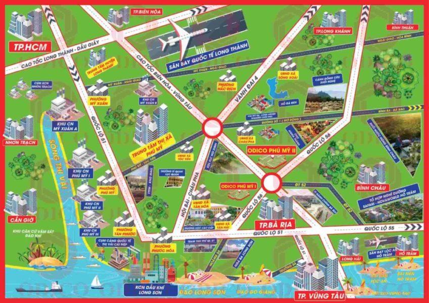 Liên kết giao thông ở thị xã Phú Mỹ (BRVT)