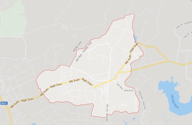 Vị trí địa lý phường Hắc Dịch, thị xã Phú Mỹ (BRVT)
