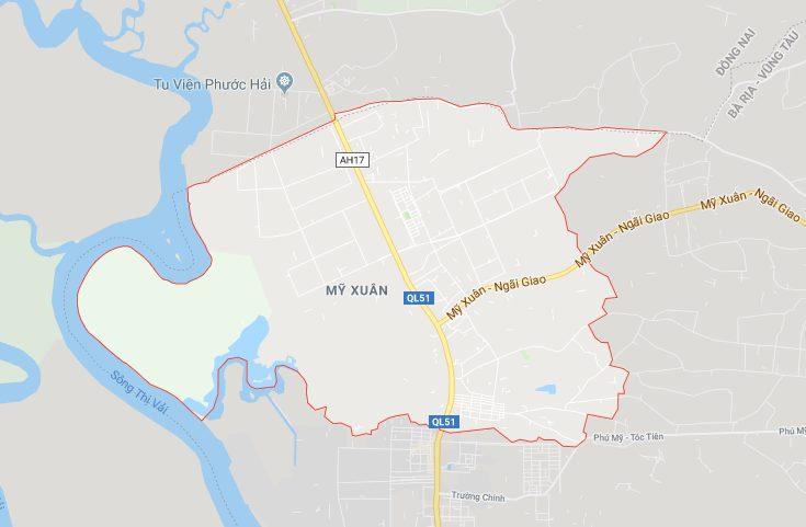 Vị trí địa lý phường Mỹ Xuân, thị xã Phú Mỹ (BRVT)