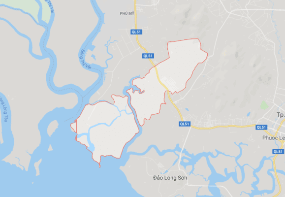 Vị trí địa lý phường Phước Hòa, thị xã Phú Mỹ (BRVT)