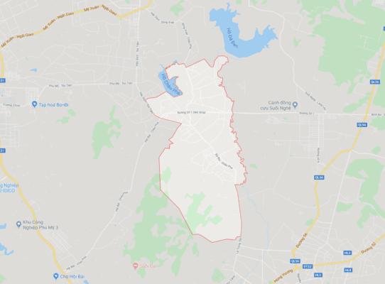 Vị trí địa lý của xã Châu Pha, thị xã Phú Mỹ (BRVT)