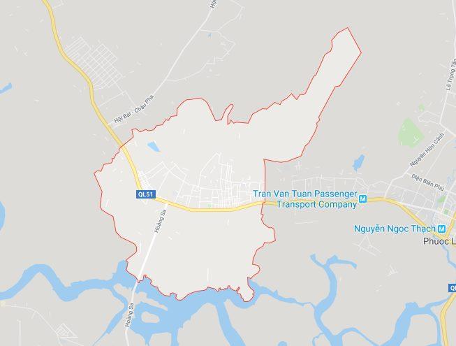 Vị trí địa lý của xã Tân Hải thị xã Phú Mỹ (BRVT)