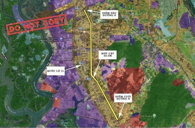 Dự án đường quy hoạch S song song Quốc Lộ 51 từ điểm giao đường Mỹ Xuân - Ngãi Giao đến đường qui hoạch số 33 (nhánh rẻ cao tốc Biên Hoà - Vũng Tàu.