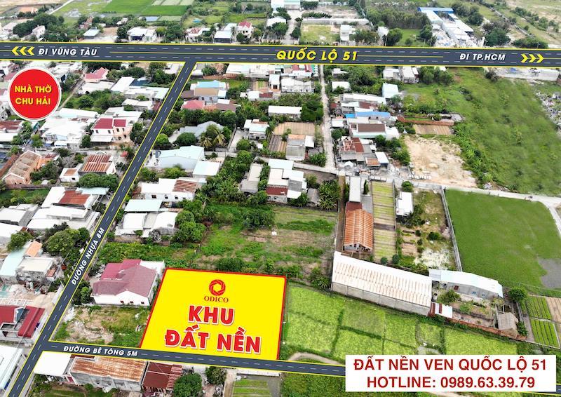 Đất QL51 - Tân Hải - Phú Mỹ BRVT 6x30m