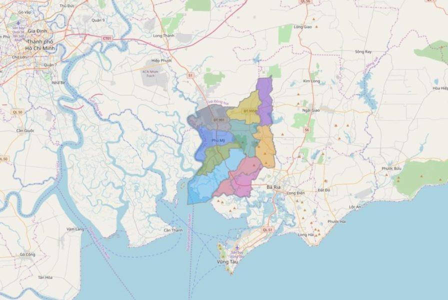 Bản đồ quy hoạch tổng thể thị xã Phú Mỹ