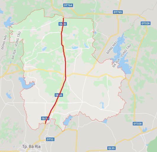 Quốc lộ 56 tuyến đường đi qua Châu Đức, Bà Rịa Vũng Tàu
