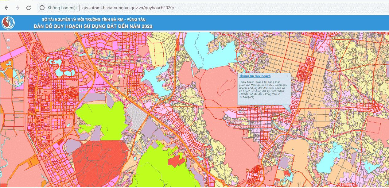 Tra cứu thông tin quy hoạch Phú Mỹ trực tiếp trên website