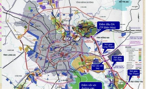 Cao tốc Biên Hòa - Vũng Tàu trong bản đồ giao thông vùng Đông Nam bộ