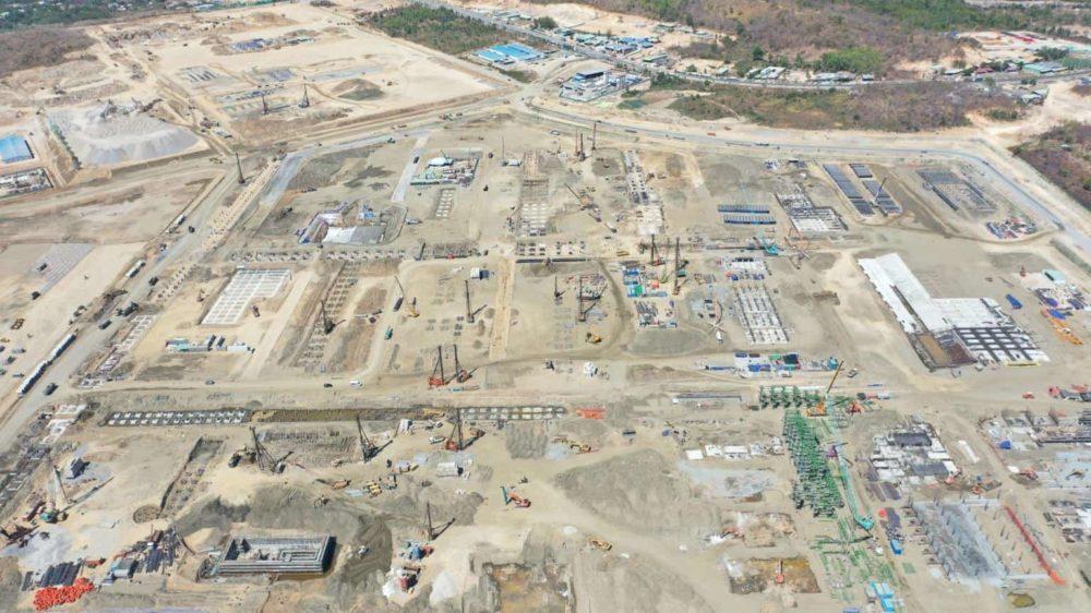 Toàn cảnh dự án lọc hóa dầu Long Sơn nhìn từ trên cao