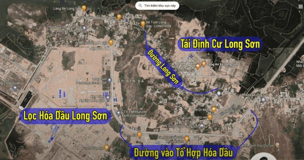 Vị trí Tổ hợp Lọc hóa dầu Long Sơn