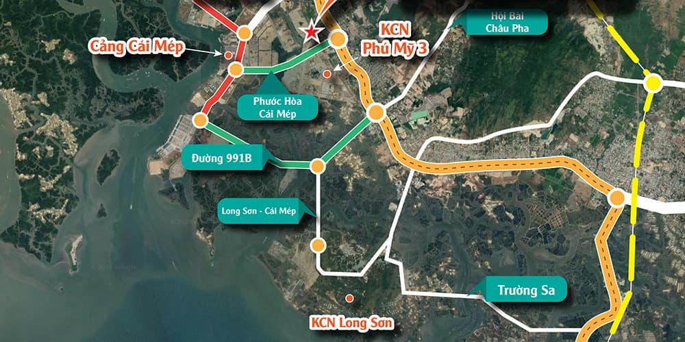 Dự án đường 991B là dự án hạ tầng quan trọng của tỉnh Bà Rịa - Vũng Tàu nối cụm cảng quốc tế Cái Mép – Thị Vải với Quốc lộ 51