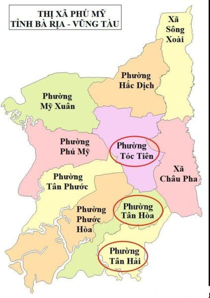 Thị xã Phú Mỹ nâng cấp 3 xã Tóc Tiên - Tân Hoà - Tân Hải thành Phường